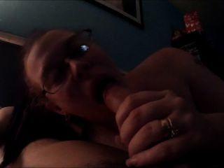Slut Wife Gives Sloppy Blowjob