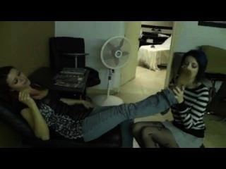 Hair Stylist Pantyhose Foot Worship
