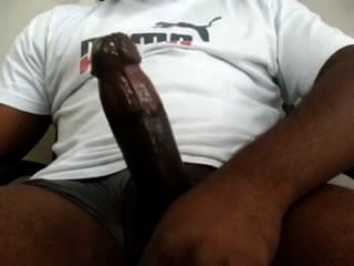 Big Black Cock Cumming Huge Load