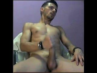 Str8 Italian Guy Milking His Dick