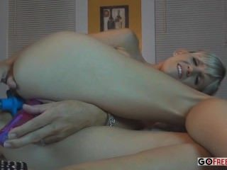 Hd Slut Crams Two Toys Up Her Before Enjoying Some Cock