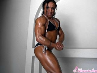 Karen Garrett Flexing