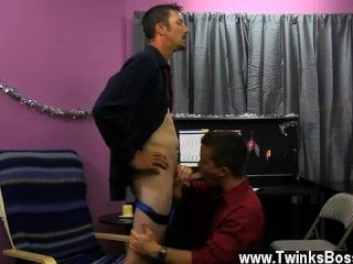 Twink Sex Danny Brooks Is Desperate To Get His Christmas Bonus, Even If