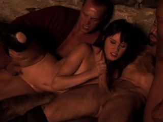 Theodora Ferreri Takes A Huge Facial That Glistens In The Firelight