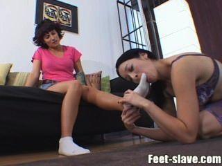 Lesbian Socks Slave