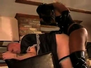 Black Mistress Fuck Sissy Boy With Strapon
