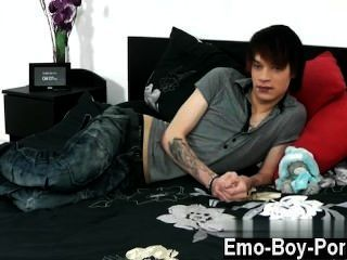 Gay Guys Hot Emo Youngster Lewis Romeo Gets Down And Muddy In His First