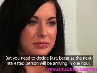 Femaleagent. Masturbating Beauty Gets Agent Wet With Desire