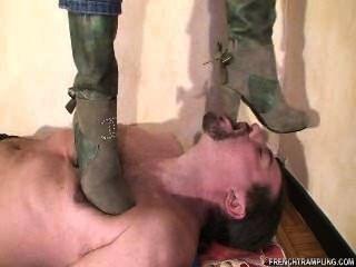 Heel Boots Cock Trampling With Bessie