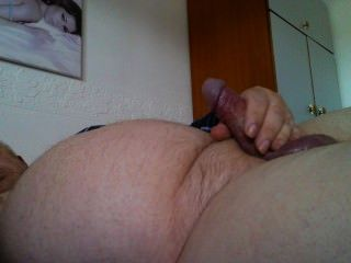 Old Man Daddy Ivan Enjoys Another Great Wank.