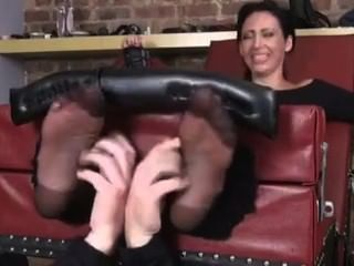 Nylon Feet Tickle Mia