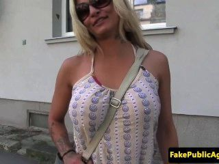 Pickedup Bigtitted Eurobabe Doggystyle Fuck In Public