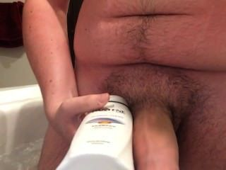 Big Dick Fat Dude Fapping In Bathroom