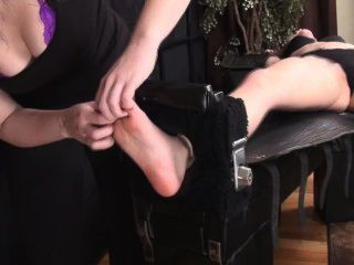 Sensitive Fiona Tied And Tickled