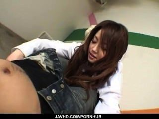 Ria Sakurai Blows Cock Before Getting Nailed In Rough Scenes