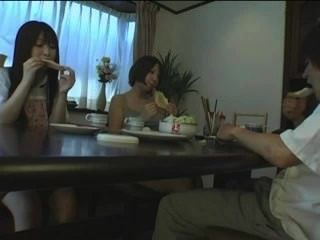 Japanese Under The Table Footjob