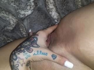 Playing With My Wet Pussy Before Bed