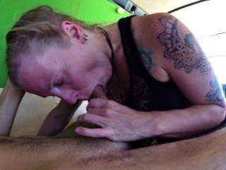 Blowjob In Van After Hippie Shower