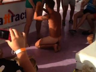 Dared To Suck Cock. Straight Brits On Magaluf Booze Cruise.