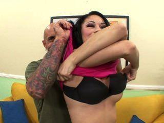 Sexy Brunette Sucks Big Cock