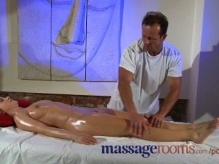 Massage Rooms Sexy Teen Feet Are Oiled And Massaged Before Big Orgasm