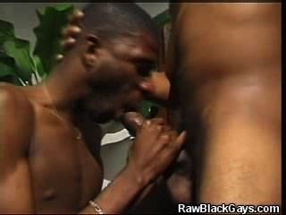 Black Man Sucks On Fellow Mans Big Cock