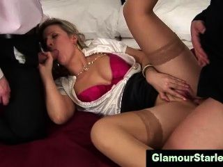 Glam Clothed Bitch Gets Fucked