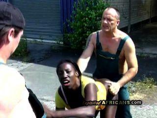 Hot Big Booty Marie Gets Doggyfucked Under Golden Shower