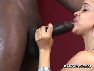 Slutty Brunette Interracial Fucking