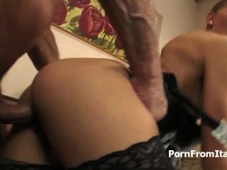Italian Sexy Hotel Maid Gets Beads, Toys, And Cock In Her Ass
