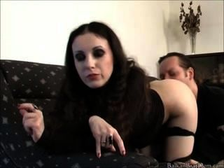 Mistress Bojana Asslicked By Her Slaveboy