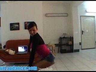 Sensual Lapdance By Busty Czech Foxy