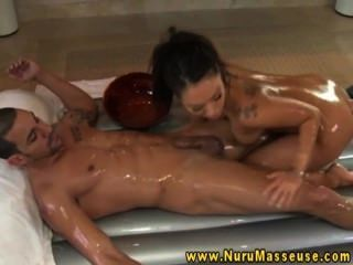 Asian Masseuse Treats Guys Dick With A Good Rub
