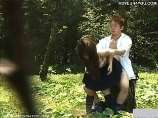 School Student Girl Outdoor Day Fuck