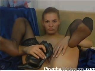 Webcam Masturbation - Super Hot Russian Heel Fucking 2