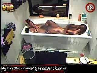 Hakeem Digging It On Cleo In The Bath Tube Part