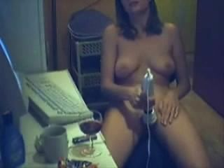 Using Vibrator While Watching Porn