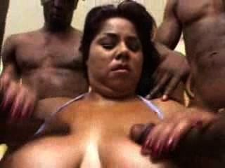 Nikki Santana Chubby And Busty Interracial Gangbang