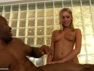 Blonde Interracial Ass Massage