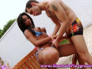 Black Shemales Cock Sucked
