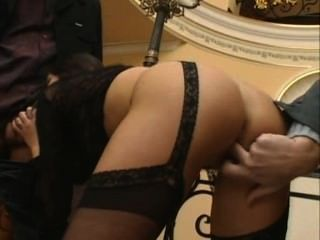 Lucy Lee - Classy Euro Slut Fucks Two Guys