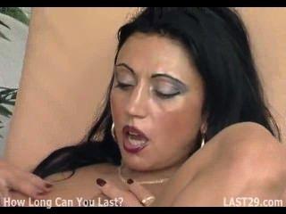 German Brunette Fingered Before Sucking A Big Cock