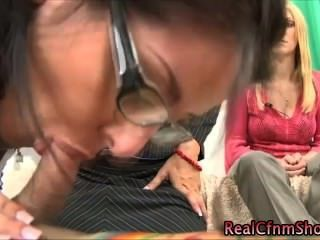 Cfnm Femdom Bitch Sucks On Cock