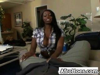 Kinky Ebony Teen Caressed Astonishingly