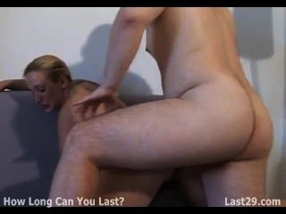 Blonde Slut Gets Her Ass Pumped Up