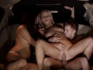 Elegant Group Sex In Limo