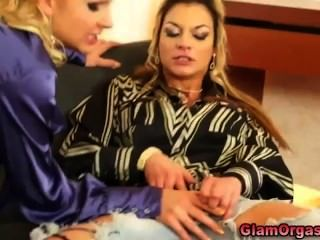 Sexy Eurotrash Lesbians Eat Pussy