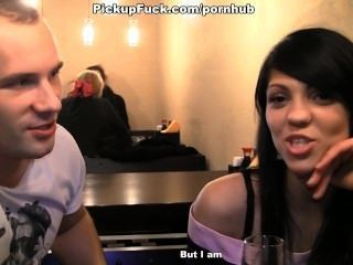 Met With A Brunette In A Cafe And Get Fucked In The Toilet