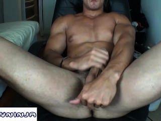 Alain Lamas Webcam Ass & Cum Show