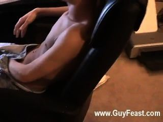 Gay Video Jared Is Nervous About His First Time Stroking On